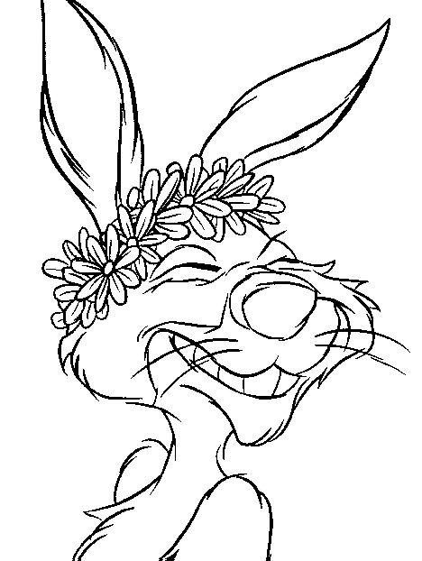 kidsnfunde  malvorlage winnie puuh und kaninchen