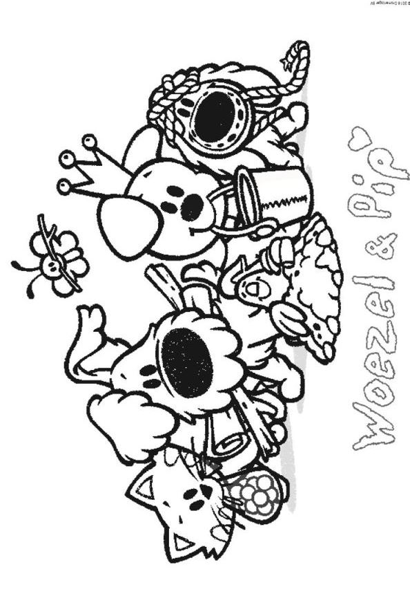 Kids N Fun De 21 Ausmalbilder Von Wusel Und Pip