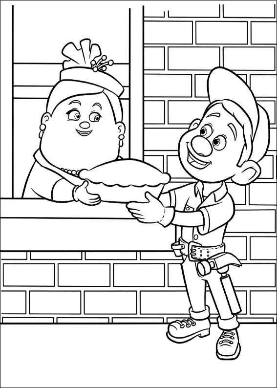 Kids N Fun De 40 Ausmalbilder Von Ralph Reicht S Wreck It Ralph