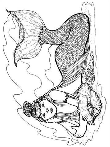 ausmalbilder mako einfach meerjungfrau | kinder ausmalbilder