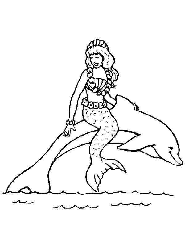 Kids-n-fun.de | 29 Ausmalbilder von Meerjungfrau