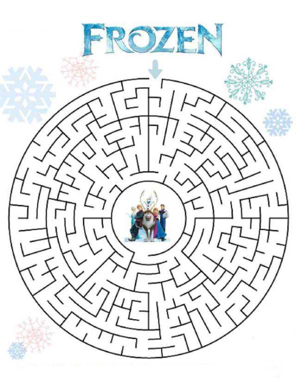 Kids-n-fun.de | Puzzles - Labyrinth Frozen