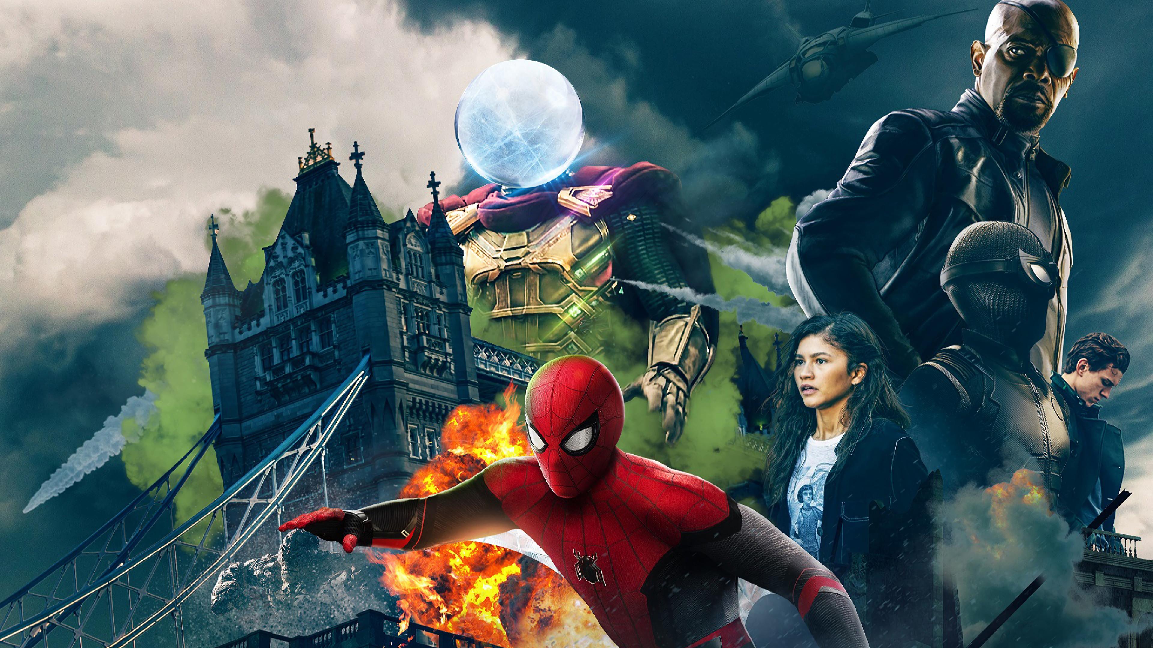 Kids N Funde Hintergrundbild Spiderman Far From Home